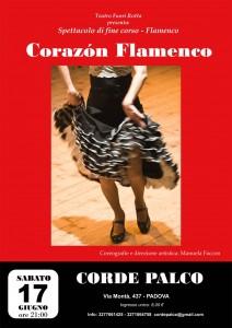 """Corazón flamenco"", Teatro Corde Palco, Padova, sabato 17 giugno"