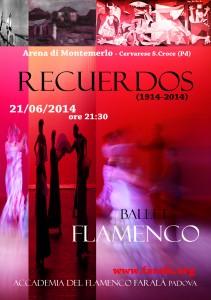 Recuerdos, Arena di Montemerlo, 21 giugno 2014