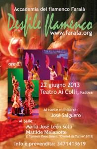 Desfile flamenco, Padova, Teatro ai Colli, 22 giugno 2013