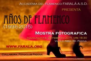 """Mostra fotografica """"20 años de flamenco"""", febbraio-marzo 2015"""
